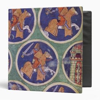 Ms 3516 fol.217v Five Knights Binder