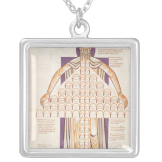 Ms 354 fol.256v Tree of Consanguinity Silver Plated Necklace