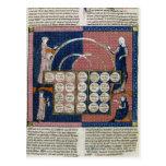Ms 360 fol.262v Tree of Consanguinity Postcard
