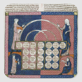 Ms 360 fol.262v Tree of Consanguinity Square Sticker