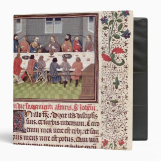 Ms 370 fol.184 The Last Supper 3 Ring Binder