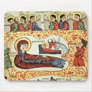 Ms 404 fol.1v la natividad, de un evangelio alfombrilla de raton