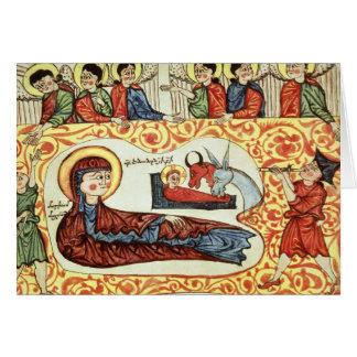 Ms 404 fol.1v la natividad, de un evangelio tarjeta de felicitación