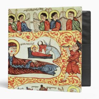 Ms 404 fol.1v The Nativity, from a Gospel 3 Ring Binder