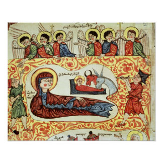 Ms 404 fol.1v The Nativity, from a Gospel Posters