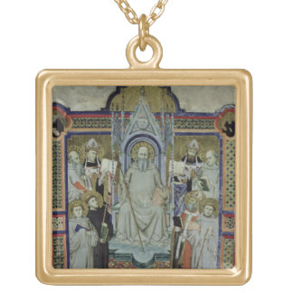 Ms 501 St. Benedict (vellum) Gold Plated Necklace