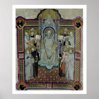 Ms 501 St. Benedict (vellum) Poster