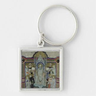 Ms 501 St. Benedicto (vitela) Llavero Cuadrado Plateado