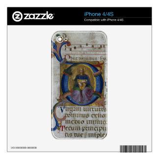 Ms 531 f.169v Historiated initial 'D' depicting Ki iPhone 4 Decals