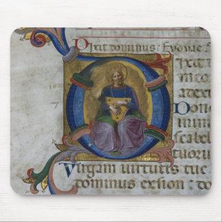 Ms 531 f.169v Historiated initial 'D' depicting Ki Mouse Pad