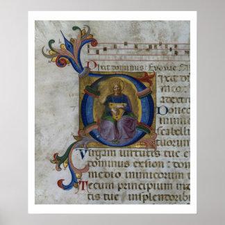 Ms 531 f.169v Historiated initial 'D' depicting Ki Posters