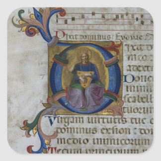 Ms 531 f.169v Historiated initial 'D' depicting Ki Square Sticker