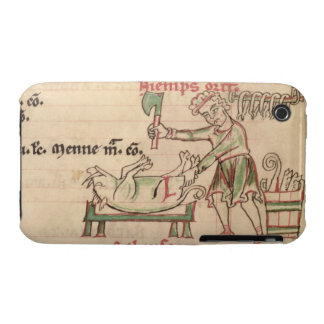 Ms 54. f.6r November: Killing the Pig, from a Cist iPhone 3 Cover