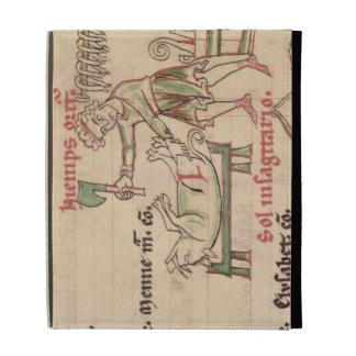 Ms 54. f.6r noviembre: Matando al cerdo, de un Cis