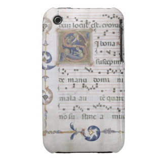 Ms 564 f.13v Page with historiated initial 'S' dep iPhone 3 Case-Mate Case