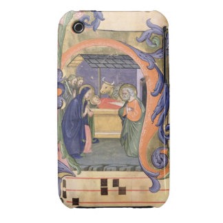 Ms 571 f.6r Historiated initial 'H' depicting the iPhone 3 Case-Mate Case