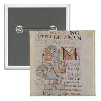 Ms 8 f.42 St. Mark the Evangelist Pinback Button