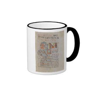 Ms 8 f.42 St. Mark the Evangelist Ringer Coffee Mug