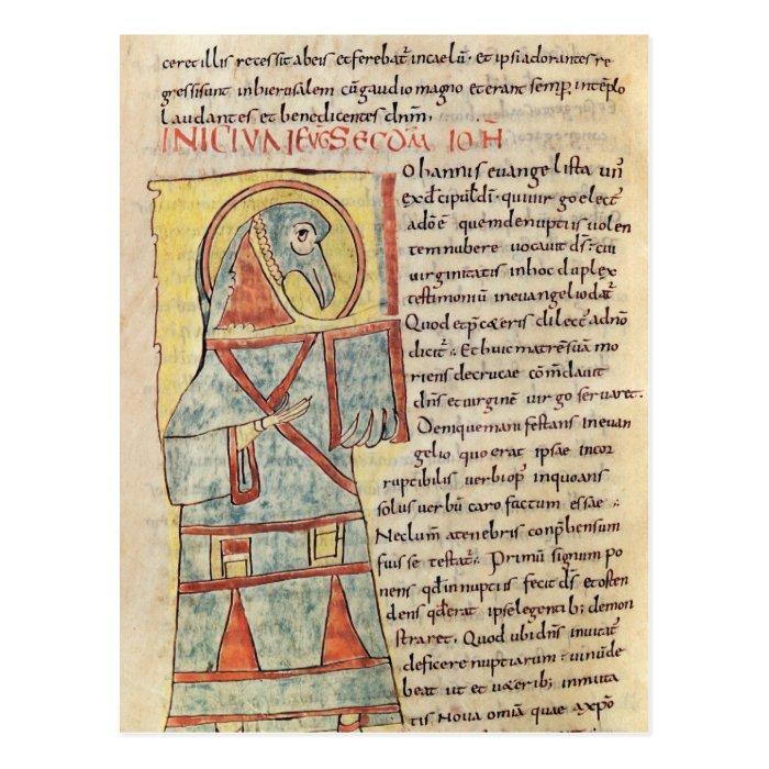 Ms 8 f.95v St. John the Evangelist Postcard