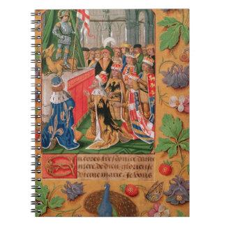Ms Add 25698 f 3 iluminó la página de un libro de Libro De Apuntes Con Espiral