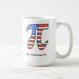 Ms. American Pi Coffee Mug