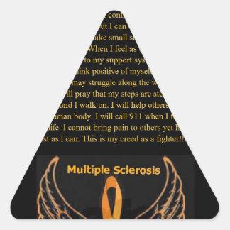 MS Awareness 2a.jpg Triangle Sticker