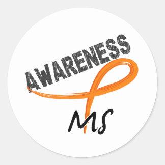 MS Awareness 3 Classic Round Sticker