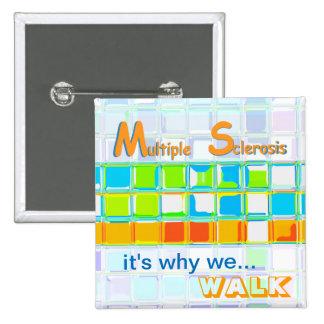 MS Awareness Team Pin ~ Custom Buttons