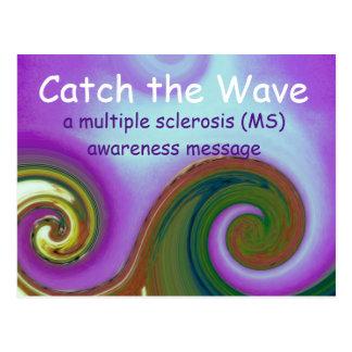 MS Awareness wave postcard
