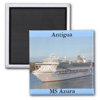 MS Azura Cruise Ship Close-Up on Antigua Magnet