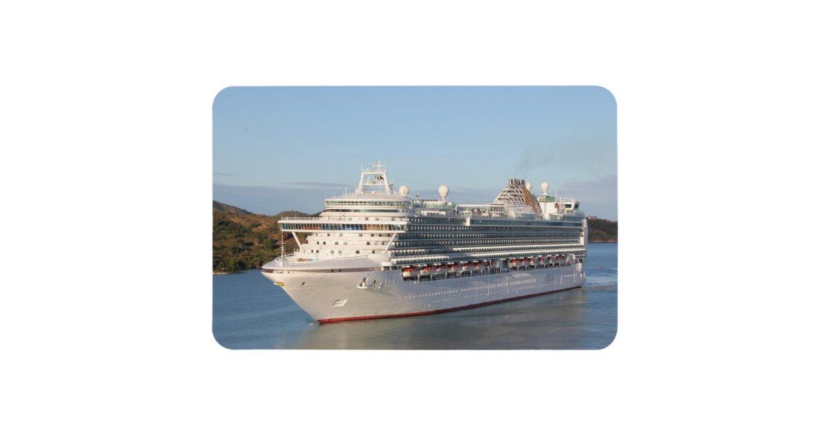 MS Azura Cruise Ship CloseUp On Antigua Rectangular Photo