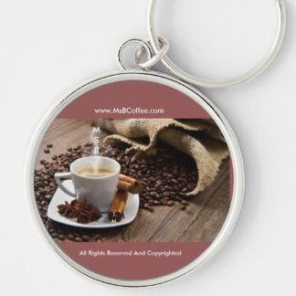 "Ms. B Coffee-Large (2.125"") Premium Round Keychain"