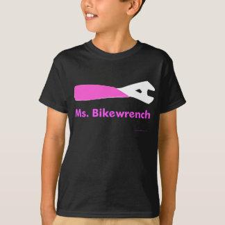 Ms. Bikewrench kid's shirt black