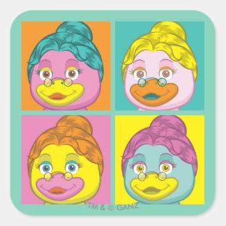 Ms. Birdy Pop Art Square Sticker