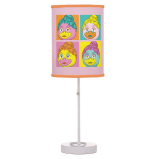 Ms. Birdy Pop Art Table Lamp