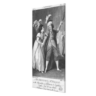 Ms. Brunton and Mr. Holman as Palmira and Canvas Print