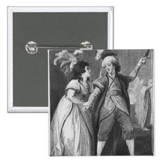 Ms Brunton y Sr. Holman como Palmira y Pin Cuadrada 5 Cm