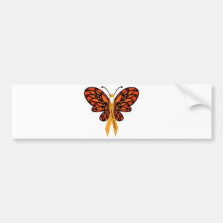 MS Butterfly Bumper Sticker