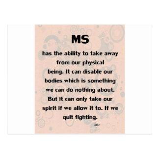 MS Can't take my Spirt! Postcard