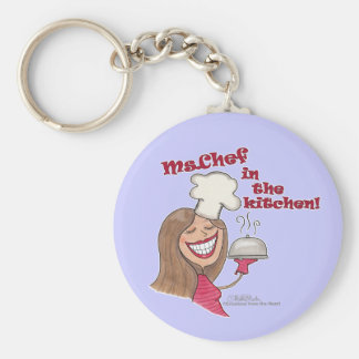 Ms.Chef  in the kitchen Keychain