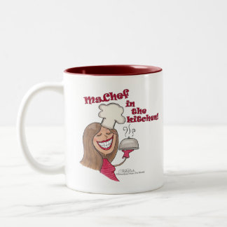 Ms.Chef  in the kitchen Two-Tone Coffee Mug
