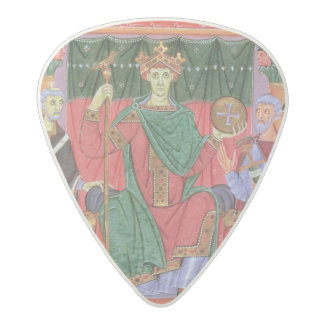 Ms Cim.4453 f.42r Holy Roman Emperor Otto III Enth Acetal Guitar Pick