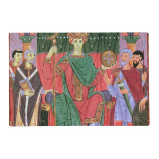 Ms Cim.4453 f.42r Holy Roman Emperor Otto III Enth Laminated Place Mat