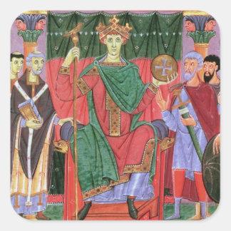 Ms Cim.4453 f.42r Holy Roman Emperor Otto III Enth Square Sticker