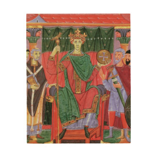 Ms Cim.4453 f.42r Holy Roman Emperor Otto III Enth Wood Wall Decor