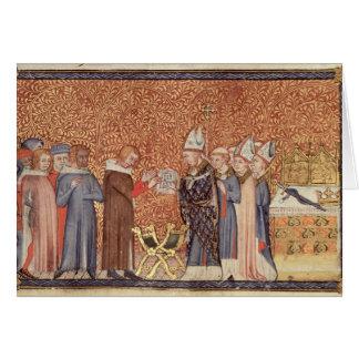 Ms Cotton Tib B VIII f.47 Coronation Scene Card