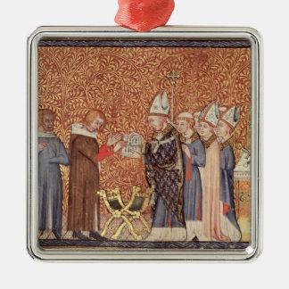 Ms Cotton Tib B VIII f.47 Coronation Scene Metal Ornament