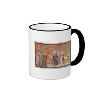 Ms Cotton Tib B VIII f.47 Coronation Scene Ringer Mug
