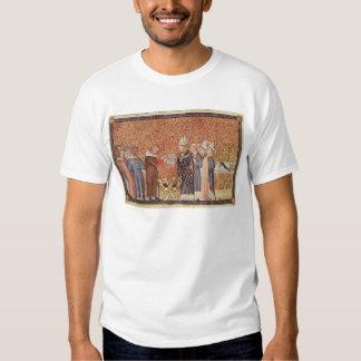 Ms Cotton Tib B VIII f.47 Coronation Scene Tee Shirt