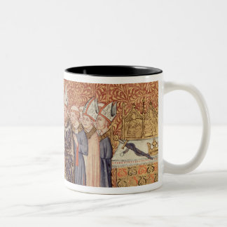 Ms Cotton Tib B VIII f.47 Coronation Scene Two-Tone Coffee Mug